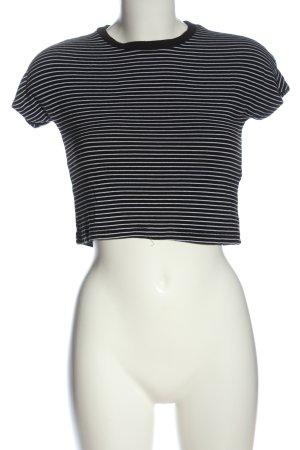 Zara Trafaluc Ringelshirt schwarz-weiß Streifenmuster Casual-Look