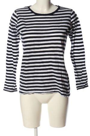 Zara Trafaluc Ringelshirt schwarz-weiß Allover-Druck Casual-Look