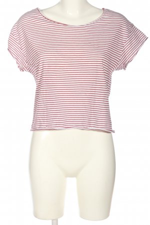 Zara Trafaluc Gestreept shirt bruin-wolwit gestreept patroon casual uitstraling