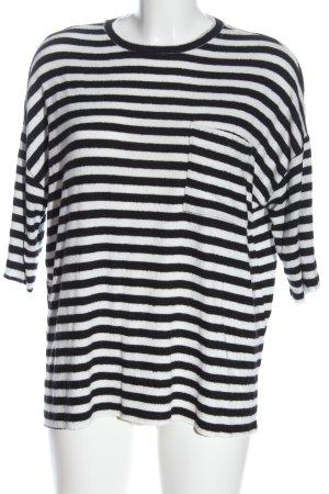Zara Trafaluc Camisa de rayas negro-blanco look casual