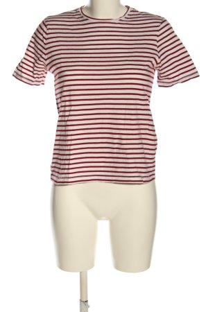 Zara Trafaluc Ringelshirt rot-weiß Allover-Druck Casual-Look