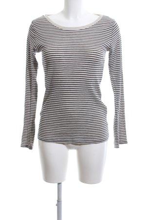 Zara Trafaluc Gestreept shirt wolwit-lichtgrijs gestreept patroon