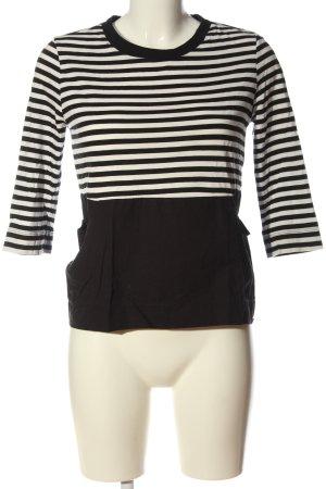Zara Trafaluc Gestreept shirt zwart-wit gestreept patroon casual uitstraling