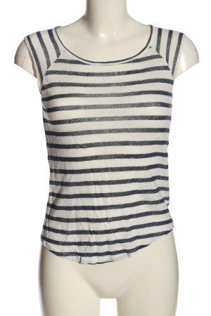 Zara Trafaluc Ringelshirt weiß-blau Streifenmuster Elegant
