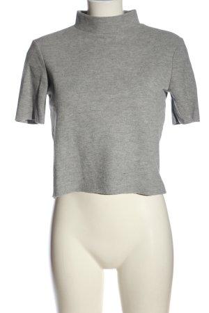 Zara Trafaluc Chemise côtelée gris clair moucheté style décontracté