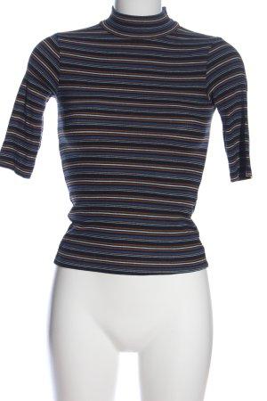 Zara Trafaluc Camisa acanalada estampado a rayas look casual