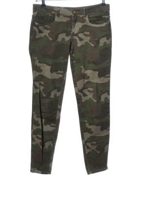 Zara Trafaluc Röhrenhose khaki Camouflagemuster Casual-Look