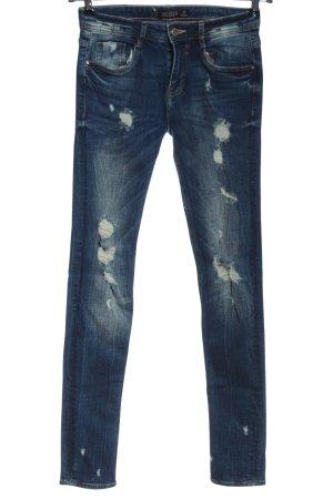 Zara Trafaluc Jeans cigarette bleu style mode des rues