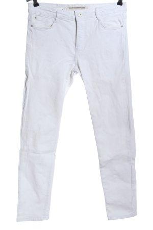 Zara Trafaluc Jeans cigarette blanc style décontracté
