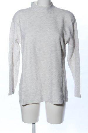 Zara Trafaluc Camisa de cuello de tortuga gris claro moteado look casual