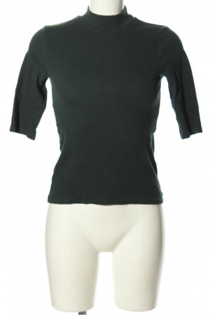 Zara Trafaluc Camisa de cuello de tortuga negro look casual