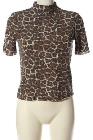 Zara Trafaluc Turtleneck Shirt animal pattern casual look