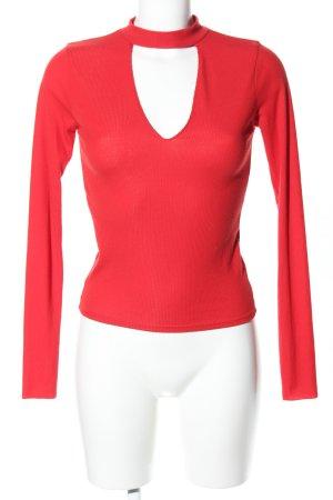 Zara Trafaluc Turtleneck Shirt red elegant