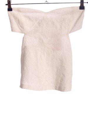 Zara Trafaluc Top schiena coperta bianco sporco stampa integrale