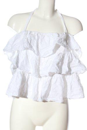 Zara Trafaluc Backless Top white casual look