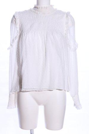 Zara Trafaluc Blusa con volantes blanco look casual