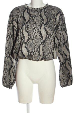 Zara Trafaluc Sweter z okrągłym dekoltem Zwierzęcy wzór W stylu casual