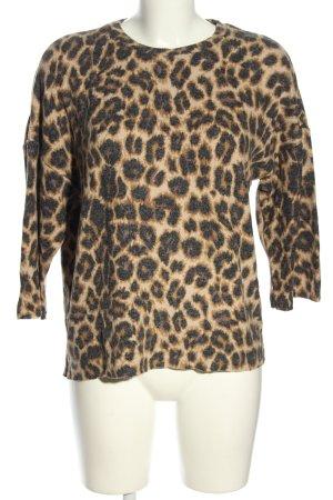 Zara Trafaluc Sweter z okrągłym dekoltem Na całej powierzchni W stylu casual