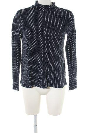 Zara Trafaluc Rundhalspullover schwarz-weiß Punktemuster Casual-Look
