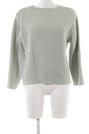 Zara Trafaluc Rundhalspullover graugrün Casual-Look