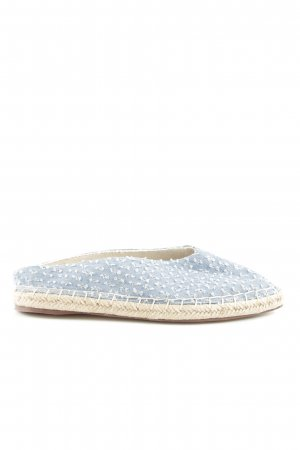 Zara Trafaluc Sabots blau-weiß Punktemuster Casual-Look