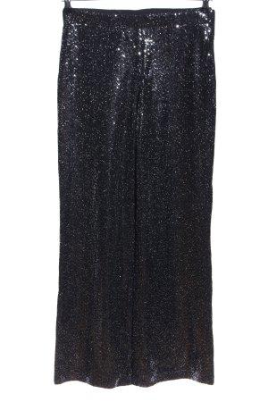 Zara Trafaluc Schlaghose schwarz-silberfarben Elegant