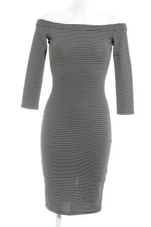 Zara Trafaluc Vestido de tubo negro-blanco estampado a rayas look casual