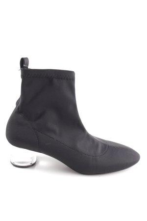Zara Trafaluc Schlüpf-Stiefeletten schwarz extravaganter Stil