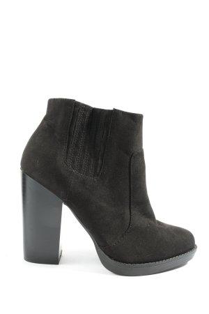 Zara Trafaluc Wciągane buty za kostkę czarny W stylu casual