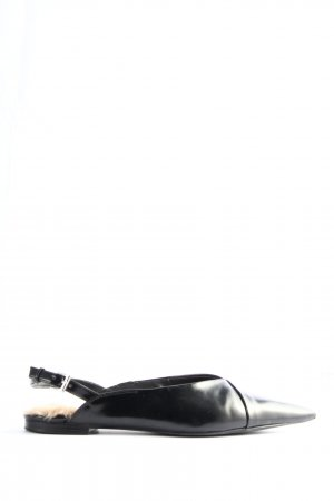 Zara Trafaluc Slingback ballerina's zwart casual uitstraling