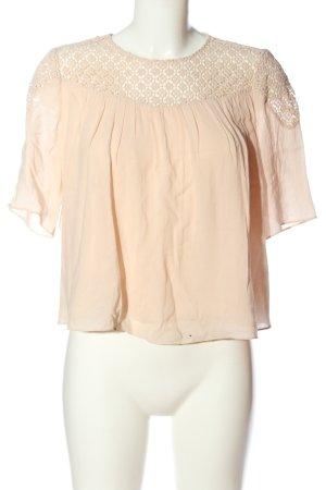 Zara Trafaluc Schlupf-Bluse creme Casual-Look