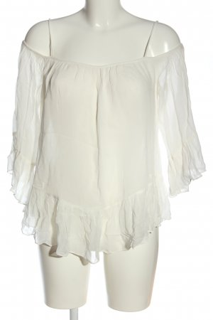 Zara Trafaluc Schlupf-Bluse weiß Elegant