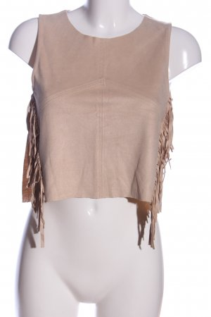 Zara Trafaluc Cropped Top nude Casual-Look