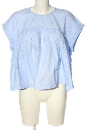Zara Trafaluc Schlupf-Bluse blau Business-Look