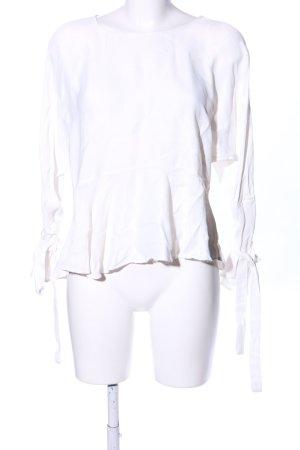 Zara Trafaluc Schlupf-Bluse weiß Business-Look
