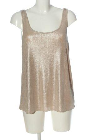 Zara Trafaluc Schlupf-Bluse goldfarben Casual-Look