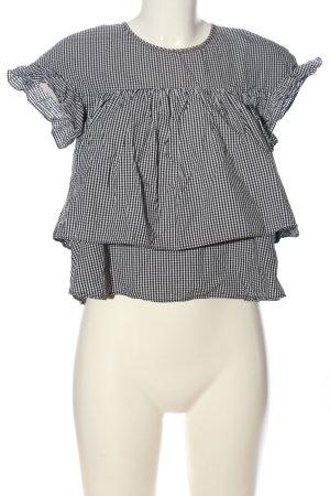 Zara Trafaluc Schlupf-Bluse schwarz-weiß Karomuster Casual-Look