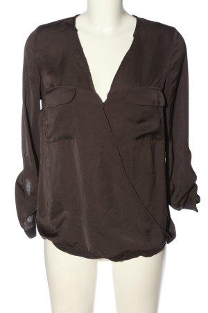 Zara Trafaluc Schlupf-Bluse braun Business-Look