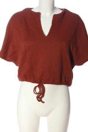 Zara Trafaluc Schlupf-Bluse rot Casual-Look