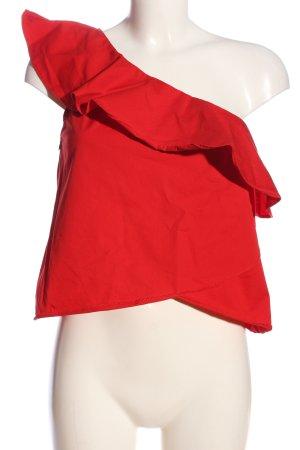 Zara Trafaluc Top monospalla rosso stile casual