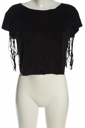 Zara Trafaluc Camiseta negro look casual