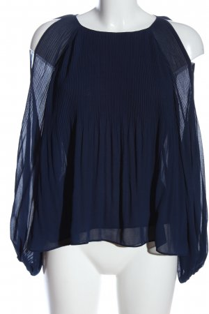 Zara Trafaluc Schlupf-Bluse blau Casual-Look