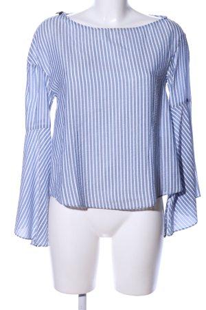 Zara Trafaluc Schlupf-Bluse blau-weiß Streifenmuster Business-Look