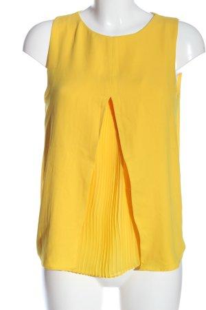 Zara Trafaluc Schlupf-Bluse blassgelb Casual-Look