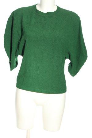 Zara Trafaluc Schlupf-Bluse grün Casual-Look