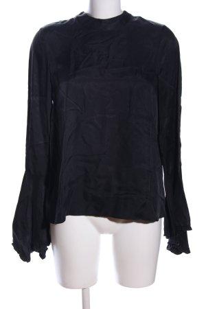 Zara Trafaluc Schlupf-Bluse schwarz Business-Look
