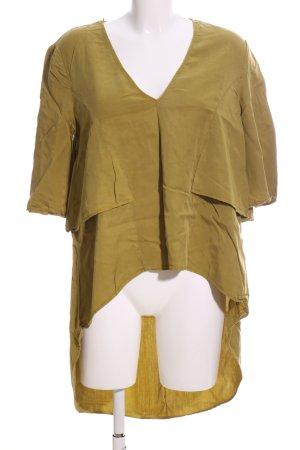 Zara Trafaluc Schlupf-Bluse khaki Casual-Look