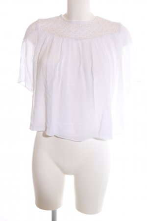 Zara Trafaluc Schlupf-Bluse weiß Casual-Look