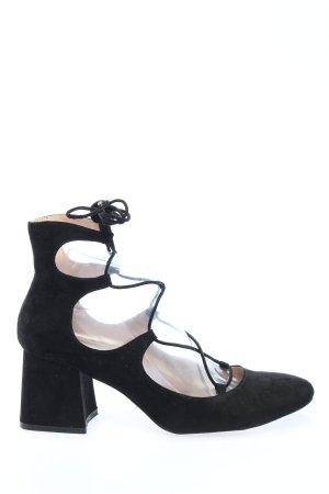 Zara Trafaluc Aanrijg Pumps zwart casual uitstraling