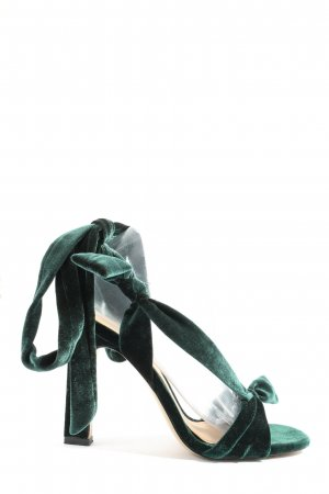 Zara Trafaluc Schnür-Pumps grün extravaganter Stil